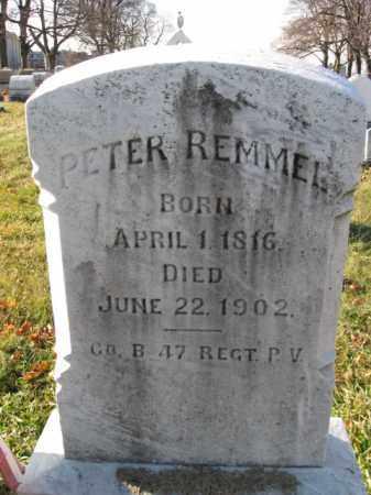 REMMEL, PVT. PETER - Lehigh County, Pennsylvania | PVT. PETER REMMEL - Pennsylvania Gravestone Photos