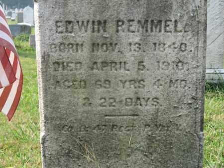 REMMELL, PVT. EDWIN - Lehigh County, Pennsylvania | PVT. EDWIN REMMELL - Pennsylvania Gravestone Photos