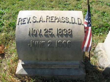 REPASS (CW-CSA), REV.  STEPHEN A. - Lehigh County, Pennsylvania | REV.  STEPHEN A. REPASS (CW-CSA) - Pennsylvania Gravestone Photos