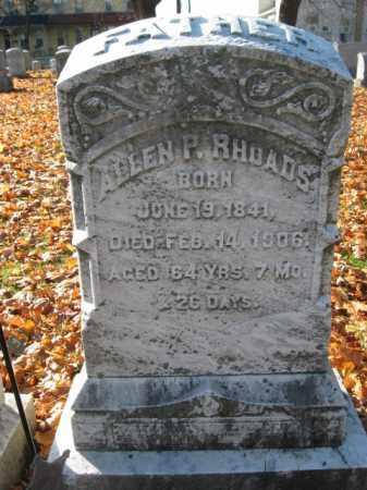 RHOADS, PVT. ALLEN P. - Lehigh County, Pennsylvania | PVT. ALLEN P. RHOADS - Pennsylvania Gravestone Photos