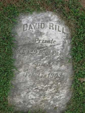 RILL, PVT. DAVID - Lehigh County, Pennsylvania | PVT. DAVID RILL - Pennsylvania Gravestone Photos