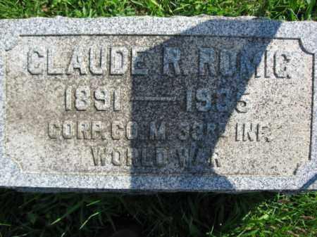 ROMIG, CLAUDE R. - Lehigh County, Pennsylvania | CLAUDE R. ROMIG - Pennsylvania Gravestone Photos