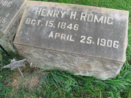 ROMIG, HENRY H. (R) - Lehigh County, Pennsylvania   HENRY H. (R) ROMIG - Pennsylvania Gravestone Photos