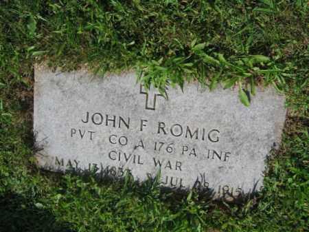 ROMIG (ROMICH) (CW), JOHN F. - Lehigh County, Pennsylvania | JOHN F. ROMIG (ROMICH) (CW) - Pennsylvania Gravestone Photos