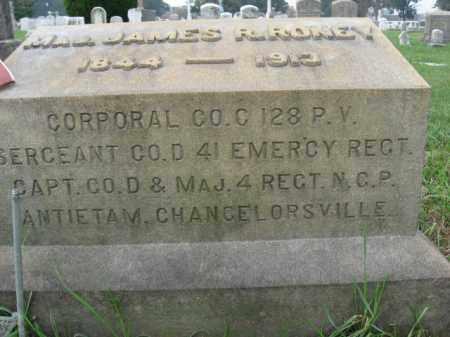 RONEY, MAJOR JAMES R. - Lehigh County, Pennsylvania | MAJOR JAMES R. RONEY - Pennsylvania Gravestone Photos