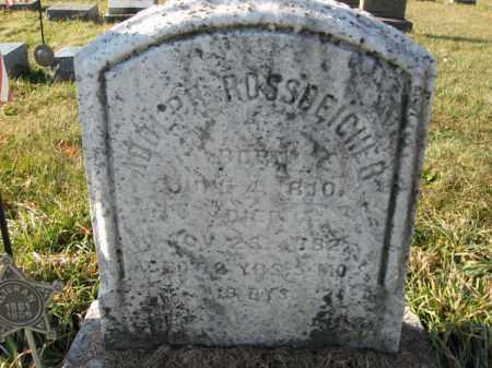 ROSSDEICHER, PVT. ADLPH - Lehigh County, Pennsylvania   PVT. ADLPH ROSSDEICHER - Pennsylvania Gravestone Photos