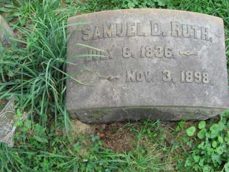 RUTH, SAMUEL D. - Lehigh County, Pennsylvania | SAMUEL D. RUTH - Pennsylvania Gravestone Photos