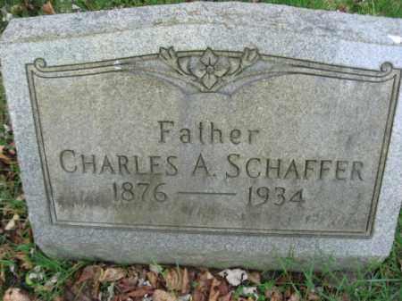 SCHAFFER, CHARLES A. - Lehigh County, Pennsylvania | CHARLES A. SCHAFFER - Pennsylvania Gravestone Photos