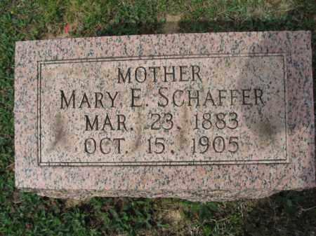 SCHAFFER, MARY E - Lehigh County, Pennsylvania   MARY E SCHAFFER - Pennsylvania Gravestone Photos