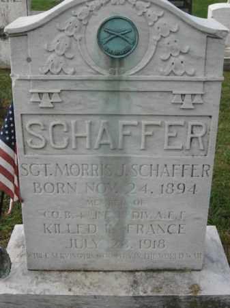 SCHAFFER, SGT. MORRIS J. - Lehigh County, Pennsylvania   SGT. MORRIS J. SCHAFFER - Pennsylvania Gravestone Photos