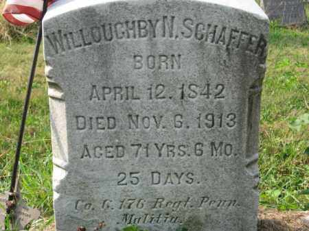 SCHAFFER, WILLOUGHBY N. - Lehigh County, Pennsylvania | WILLOUGHBY N. SCHAFFER - Pennsylvania Gravestone Photos