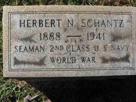 SCHANTZ, HERBERT  N. - Lehigh County, Pennsylvania | HERBERT  N. SCHANTZ - Pennsylvania Gravestone Photos