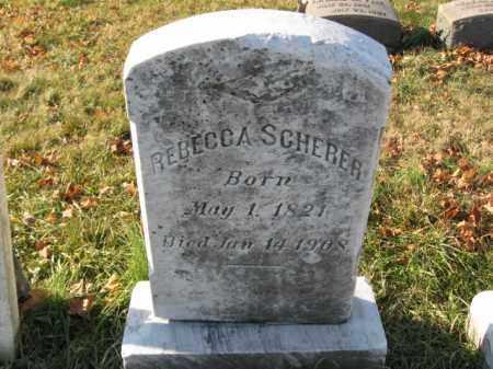 SCHERER, REBECCA - Lehigh County, Pennsylvania   REBECCA SCHERER - Pennsylvania Gravestone Photos