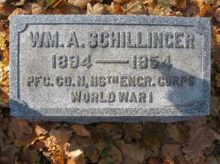 SCHILLINGER, WILLIAM A. - Lehigh County, Pennsylvania | WILLIAM A. SCHILLINGER - Pennsylvania Gravestone Photos