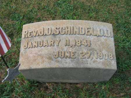 SCHINDEL, REV. J.D. - Lehigh County, Pennsylvania | REV. J.D. SCHINDEL - Pennsylvania Gravestone Photos