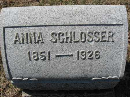 SCHLOSSER, ANNA - Lehigh County, Pennsylvania | ANNA SCHLOSSER - Pennsylvania Gravestone Photos