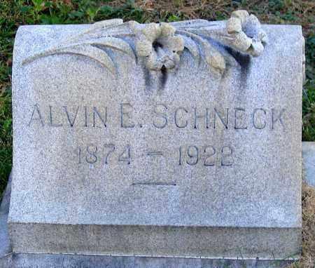 SCHNECK, ALVIN E. - Lehigh County, Pennsylvania   ALVIN E. SCHNECK - Pennsylvania Gravestone Photos
