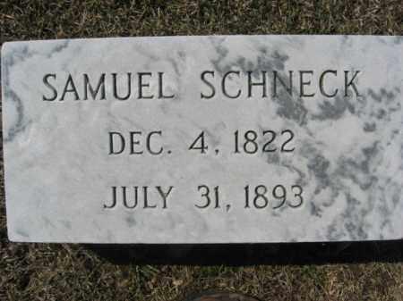 SCHNECK, SAMUEL - Lehigh County, Pennsylvania | SAMUEL SCHNECK - Pennsylvania Gravestone Photos