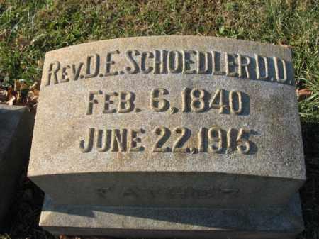 SCHOEDLER, REV. D.E. - Lehigh County, Pennsylvania | REV. D.E. SCHOEDLER - Pennsylvania Gravestone Photos
