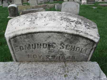 SCHOLL (CW), EDMUND G. - Lehigh County, Pennsylvania | EDMUND G. SCHOLL (CW) - Pennsylvania Gravestone Photos