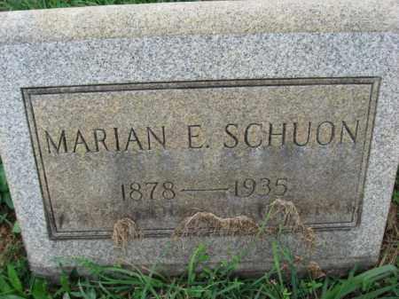 SCHOUN, MARIAN E. - Lehigh County, Pennsylvania | MARIAN E. SCHOUN - Pennsylvania Gravestone Photos