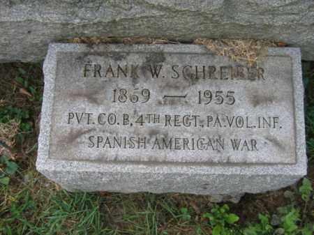 SCHREIBER, FRANK W. - Lehigh County, Pennsylvania   FRANK W. SCHREIBER - Pennsylvania Gravestone Photos