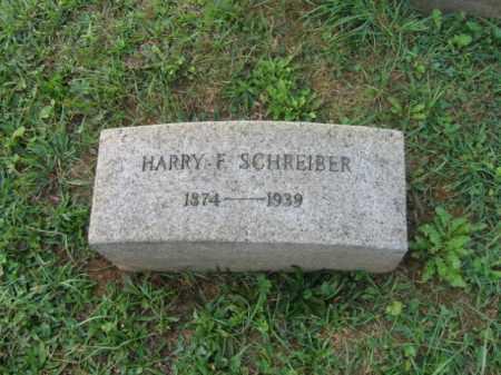 SCHREIBER, HARRY F. - Lehigh County, Pennsylvania   HARRY F. SCHREIBER - Pennsylvania Gravestone Photos