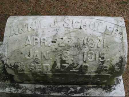 SCHULER, ANNIE J. - Lehigh County, Pennsylvania   ANNIE J. SCHULER - Pennsylvania Gravestone Photos