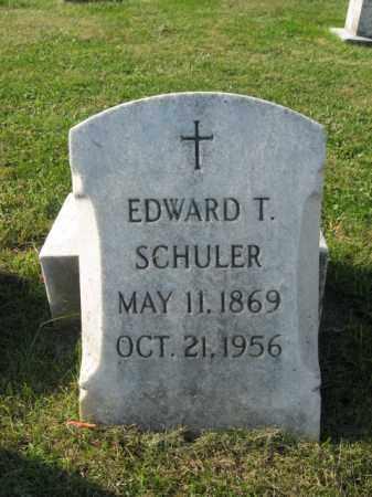 SCHULER, EDWARD T. - Lehigh County, Pennsylvania | EDWARD T. SCHULER - Pennsylvania Gravestone Photos