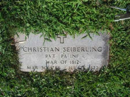 SEIBERLING, CHRISTIAN - Lehigh County, Pennsylvania | CHRISTIAN SEIBERLING - Pennsylvania Gravestone Photos