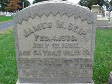 SEIP, JAMES M. - Lehigh County, Pennsylvania | JAMES M. SEIP - Pennsylvania Gravestone Photos