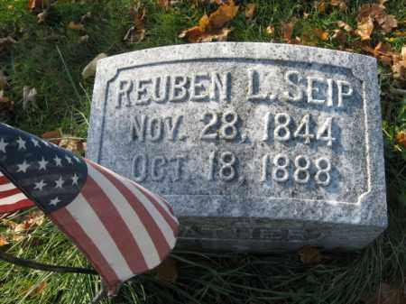 SEIP, PVT. REUBEN L. - Lehigh County, Pennsylvania   PVT. REUBEN L. SEIP - Pennsylvania Gravestone Photos