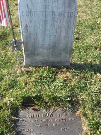 SEIP, PVT. CHRISTIAN - Lehigh County, Pennsylvania | PVT. CHRISTIAN SEIP - Pennsylvania Gravestone Photos
