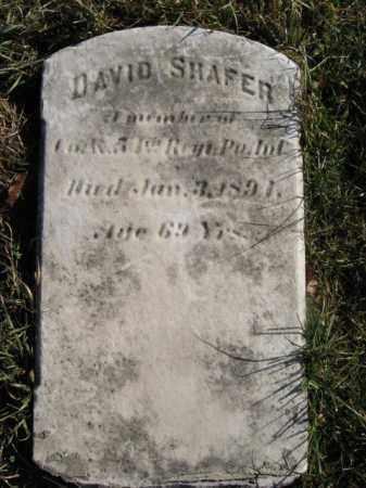 SHAFER, PVT.DAVID - Lehigh County, Pennsylvania | PVT.DAVID SHAFER - Pennsylvania Gravestone Photos