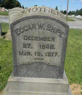 SHIPE, EDGAR W. - Lehigh County, Pennsylvania | EDGAR W. SHIPE - Pennsylvania Gravestone Photos