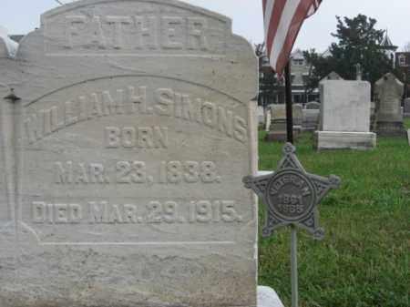 SIMONS, WILLIAM H. - Lehigh County, Pennsylvania | WILLIAM H. SIMONS - Pennsylvania Gravestone Photos