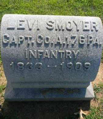 SMOYER (CW), LEVI - Lehigh County, Pennsylvania   LEVI SMOYER (CW) - Pennsylvania Gravestone Photos