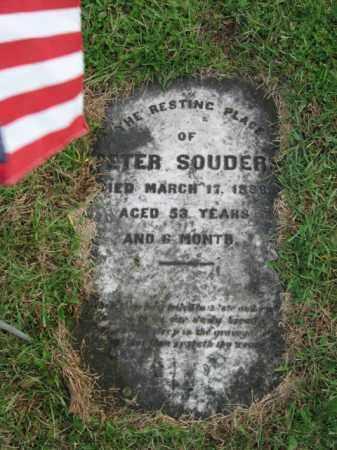 SOUDERS, PETER - Lehigh County, Pennsylvania | PETER SOUDERS - Pennsylvania Gravestone Photos