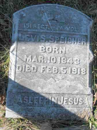 SPEICHER, PVT. LEVI S. - Lehigh County, Pennsylvania | PVT. LEVI S. SPEICHER - Pennsylvania Gravestone Photos