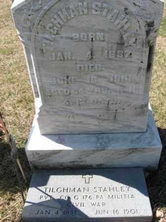 STAHLEY (CW), PVT.TILGHMAN - Lehigh County, Pennsylvania | PVT.TILGHMAN STAHLEY (CW) - Pennsylvania Gravestone Photos