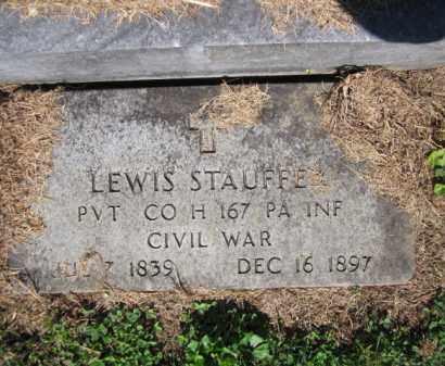 STAUFFER (CW), LEWIS - Lehigh County, Pennsylvania | LEWIS STAUFFER (CW) - Pennsylvania Gravestone Photos