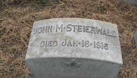 STEIERWALD, JOHN M. - Lehigh County, Pennsylvania | JOHN M. STEIERWALD - Pennsylvania Gravestone Photos