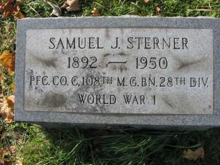 STERNER, SAMUEL J. - Lehigh County, Pennsylvania | SAMUEL J. STERNER - Pennsylvania Gravestone Photos