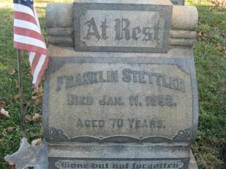 STETTLER, PVT. FRANKLIN - Lehigh County, Pennsylvania   PVT. FRANKLIN STETTLER - Pennsylvania Gravestone Photos