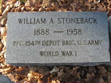 STONEBACK, WILLIAM A. - Lehigh County, Pennsylvania   WILLIAM A. STONEBACK - Pennsylvania Gravestone Photos
