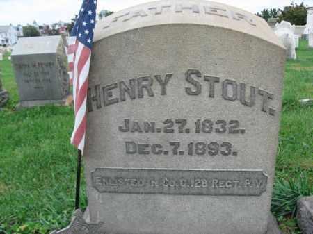 STOUT, HENRY - Lehigh County, Pennsylvania | HENRY STOUT - Pennsylvania Gravestone Photos