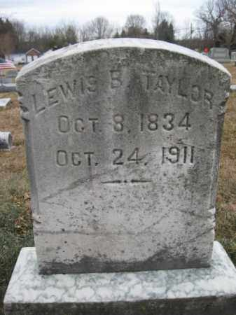 TAYLOR, LEWIS B. - Lehigh County, Pennsylvania | LEWIS B. TAYLOR - Pennsylvania Gravestone Photos