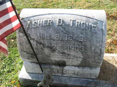 TRONE, PVT. ASHER D. - Lehigh County, Pennsylvania | PVT. ASHER D. TRONE - Pennsylvania Gravestone Photos