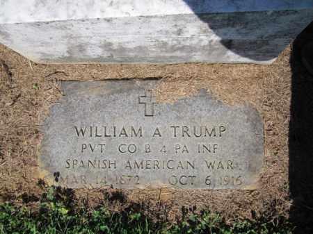 TRUMP (SAW), WILLIAM A. - Lehigh County, Pennsylvania   WILLIAM A. TRUMP (SAW) - Pennsylvania Gravestone Photos