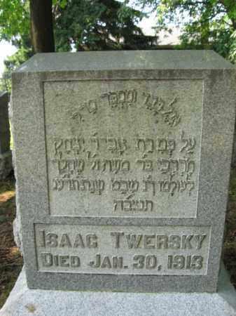 TWERSKY, ISAAC - Lehigh County, Pennsylvania | ISAAC TWERSKY - Pennsylvania Gravestone Photos